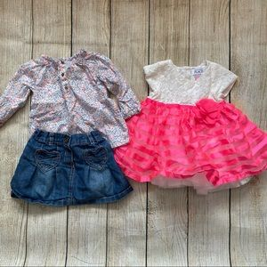 Set of 2 Girl's Dress & Outfit Size 9-12 Months